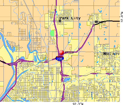 Wichita, KS (67219) map
