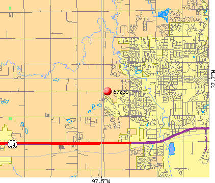 Wichita, KS (67235) map