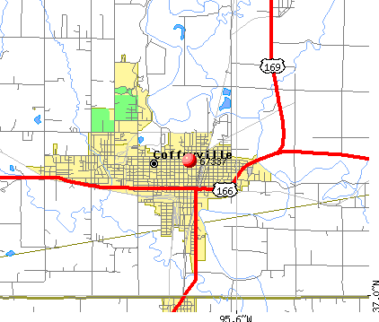 Coffeyville, KS (67337) map