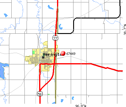 Herington, KS (67449) map