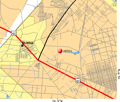Buena, NJ (08310) map