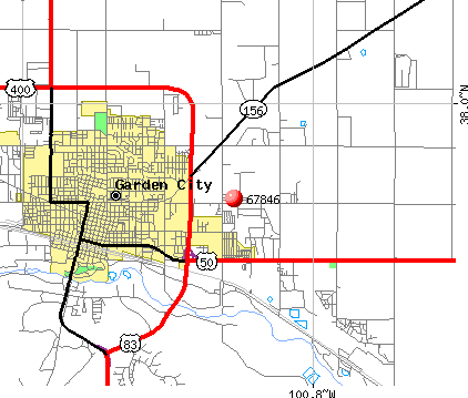 Garden City, KS (67846) map