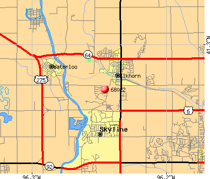 Omaha, NE (68022) map