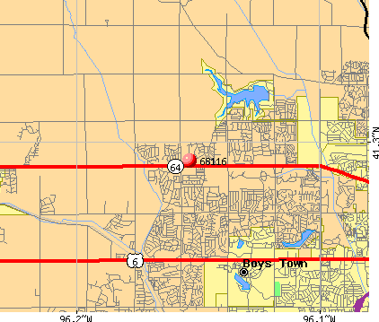 Omaha, NE (68116) map
