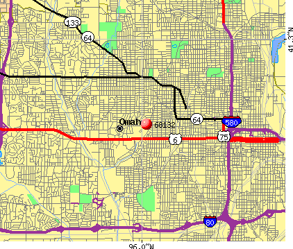 Omaha, NE (68132) map