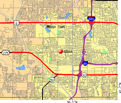 Omaha, NE (68144) map