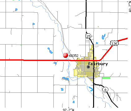 Fairbury, NE (68352) map