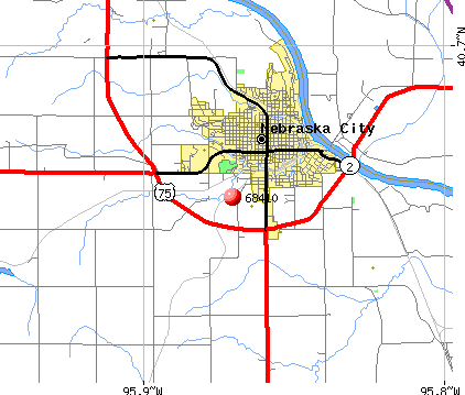 Nebraska City, NE (68410) map