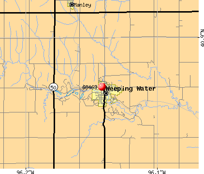 Weeping Water, NE (68463) map