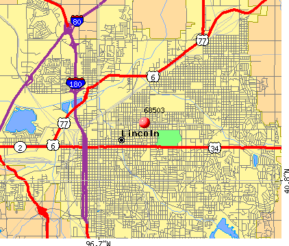Lincoln, NE (68503) map