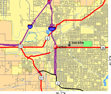 Lincoln, NE (68508) map