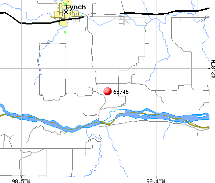 Lynch, NE (68746) map
