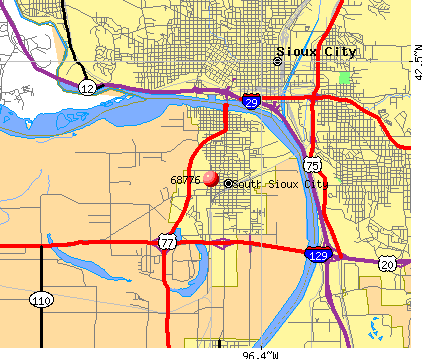 South Sioux City, NE (68776) map