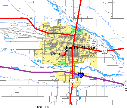 North Platte, NE (69101) map
