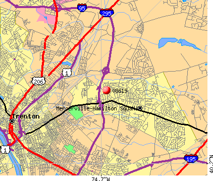 Mercerville, NJ (08619) map