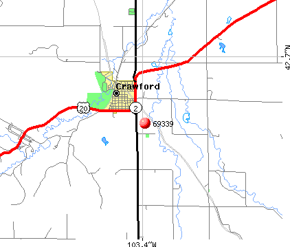 Crawford, NE (69339) map