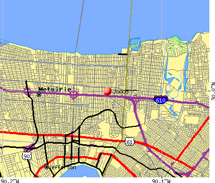 Metairie Louisiana Map
