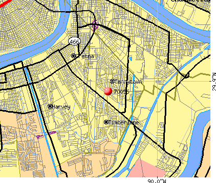 Terrytown, LA (70056) map