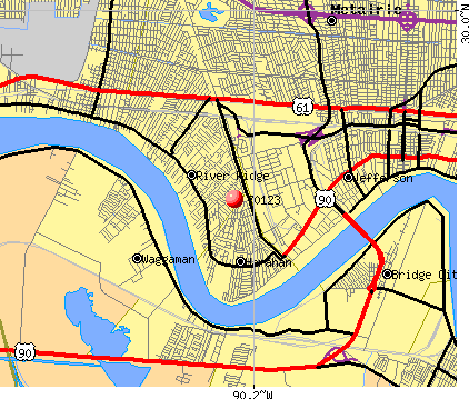 River Ridge, LA (70123) map