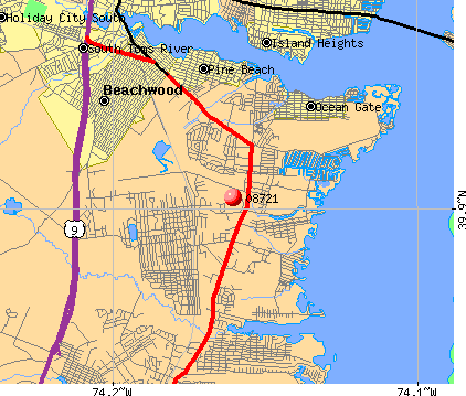 Ocean Gate, NJ (08721) map
