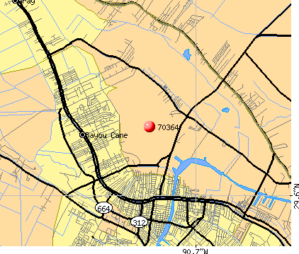 Bayou Blue, LA (70364) map