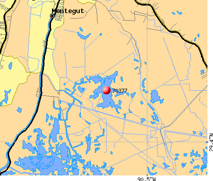 Montegut, LA (70377) map