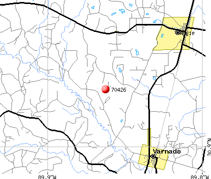 Angie, LA (70426) map