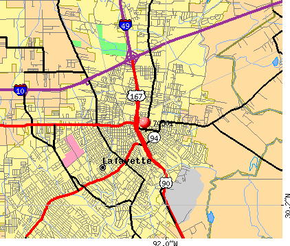 Lafayette, LA (70501) map