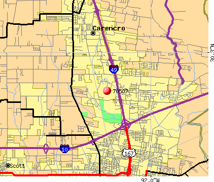 Lafayette, LA (70507) map
