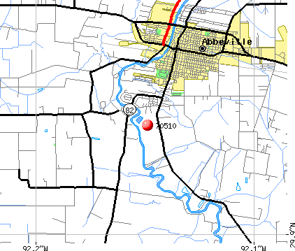 Abbeville, LA (70510) map