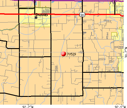 Duson, LA (70529) map