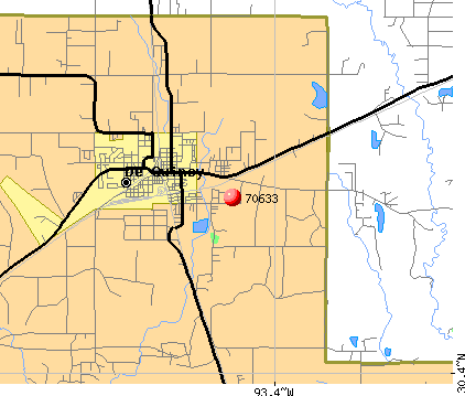 DeQuincy, LA (70633) map