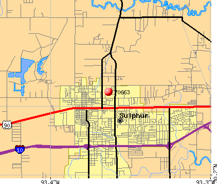 Sulphur, LA (70663) map