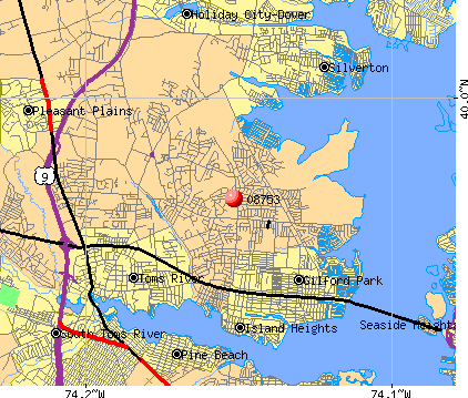 Toms River, NJ (08753) map