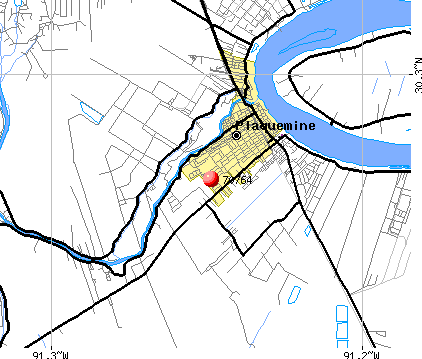 Plaquemine, LA (70764) map