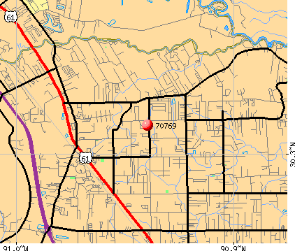Prairieville, LA (70769) map