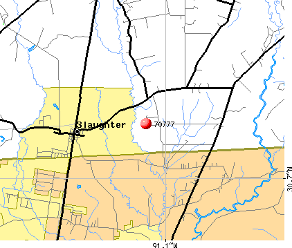 Slaughter, LA (70777) map