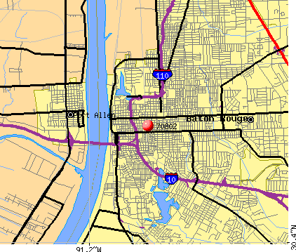 Baton Rouge Zip Codes Map | Zip Code MAP