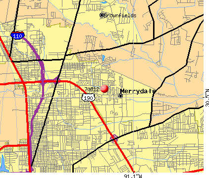 Merrydale, LA (70812) map