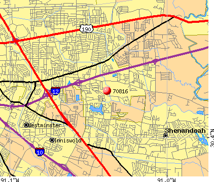 Map Of Baton Rouge Zip Codes | Zip Code MAP