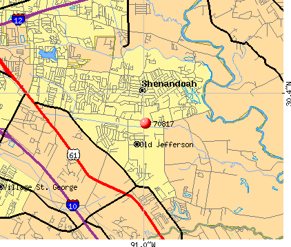 Shenandoah, LA (70817) map