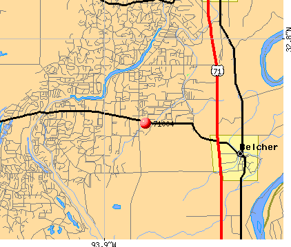 Belcher, LA (71004) map