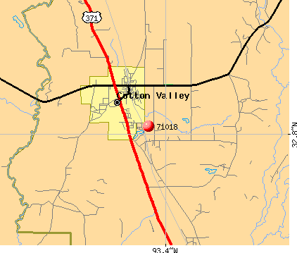 Cotton Valley, LA (71018) map