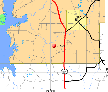 Heflin, LA (71039) map