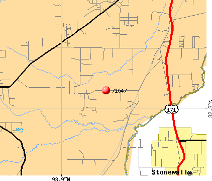 Shreveport, LA (71047) map