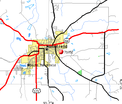 Mansfield, LA (71052) map