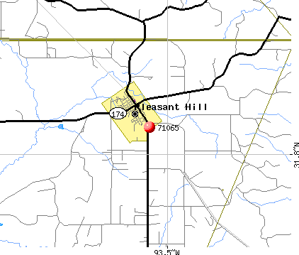 Pleasant Hill, LA (71065) map