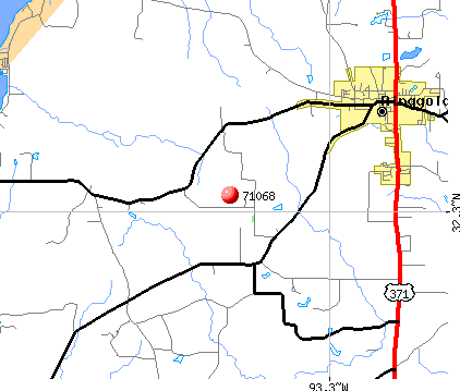 Ringgold, LA (71068) map