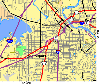 Shreveport, LA (71103) map