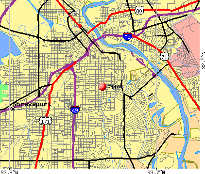 Shreveport, LA (71104) map